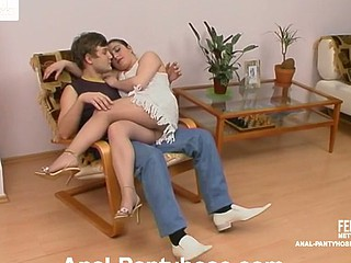 Rachel&Jerry seductive anal hose movie scene
