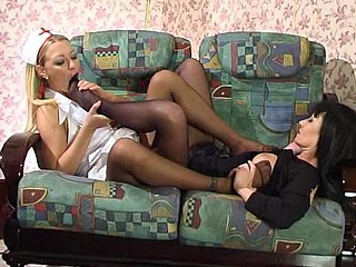 Ottilia&Rosaline great nylon feet movie scene scene