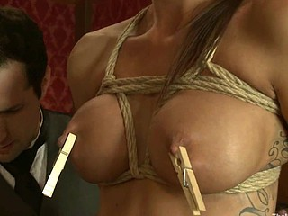 Sexy pretty girl acquires mind fucked and bondage sex.