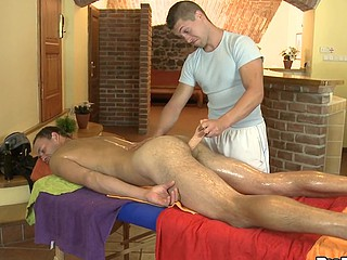 Shaved stud fucking his lovely fellow
