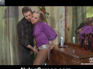 Emeralda&Geffrey horny nylon movie scene