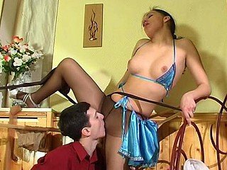 Laura&Jerome perverted pantyhose video scene