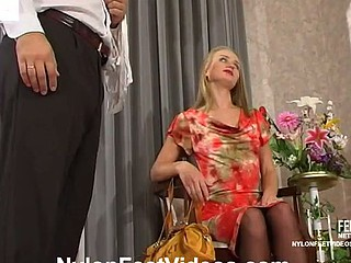 Florence&Lesley crazy nylon feet movie