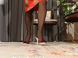 Florence&Lesley perverted nylon feet episode