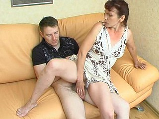Sultry aged gal is highly good in luring younger stud into molten fucking