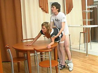 Mima&Ernest nylon fucking dusting scene