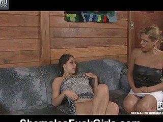 Tayna&Fernanda ladyboy fucks lady comport oneself