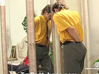 Douglas&Cyrus gay pantyhose intercourse clip