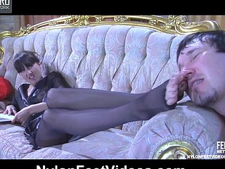 Madeleine&Rolf amazing nylon feet movie