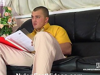 Emmie&Nicholas astonishing nylon feet movie