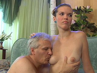 Juvenile whore god strips stripped making her old sex serf look up to and pleasure her