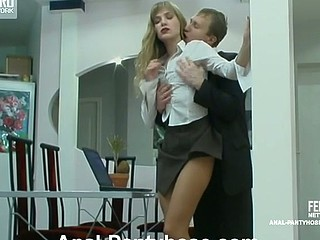 Diana&Adrian hot anal pantyhose act
