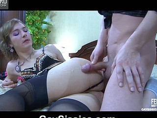 Paul&Silvester cockloving crossdresser on video chapter