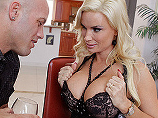 Diamond is kind of bummed because her hubby asks that this babe not merely pickup his ally from the airport, but likewise entertain him until this chab arrives. And what do u know, the two hit it off large time, and this babe copulates her huband's ally!