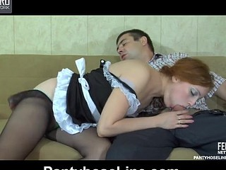 Rita&Bobbie awesome pantyhose action