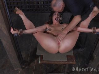 We suggest u Cici, a cutie that needs punishment and nothing makes bad girls obedient then a hard ass fisting. Cici was fastened with her legs spread wide and the executor oiled her pink shaved anus previous to inserting his hand inside it. He rips her ass hole and she moans with both pleasure and pain, wana see some more?