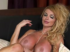 Busty Blonde British MILF Taking On a Big Dick In The Morning