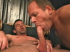 Hot guys enjoying some hot blowjob and anal action in here...