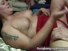 Amateur fat whore getting her large wet pussy fucked