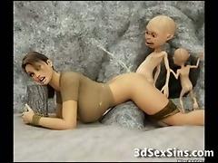 3D Bad Creatures Fuck Good Girls!